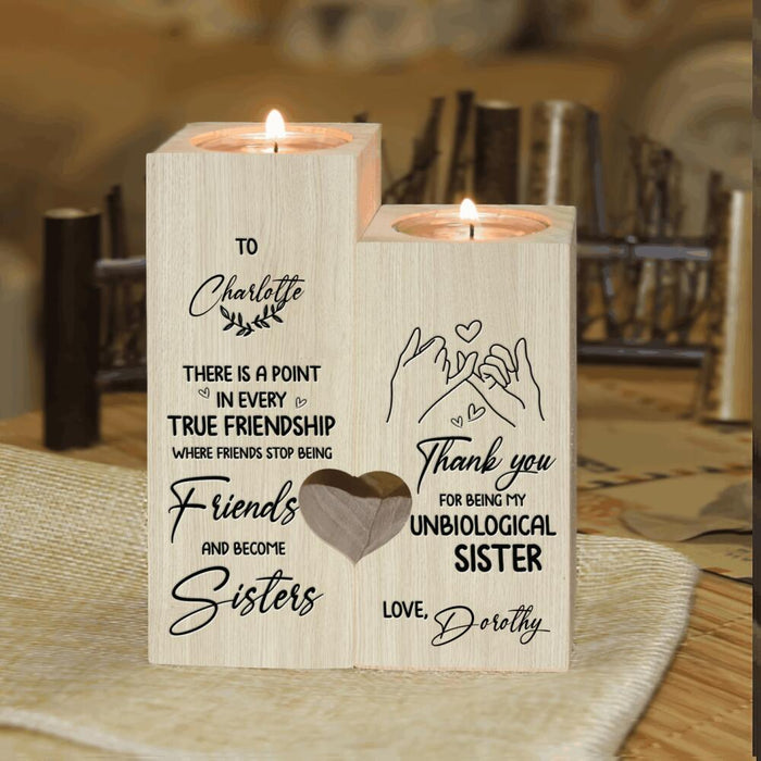 Custom There Is Point In Every True Friendship Candle Holder