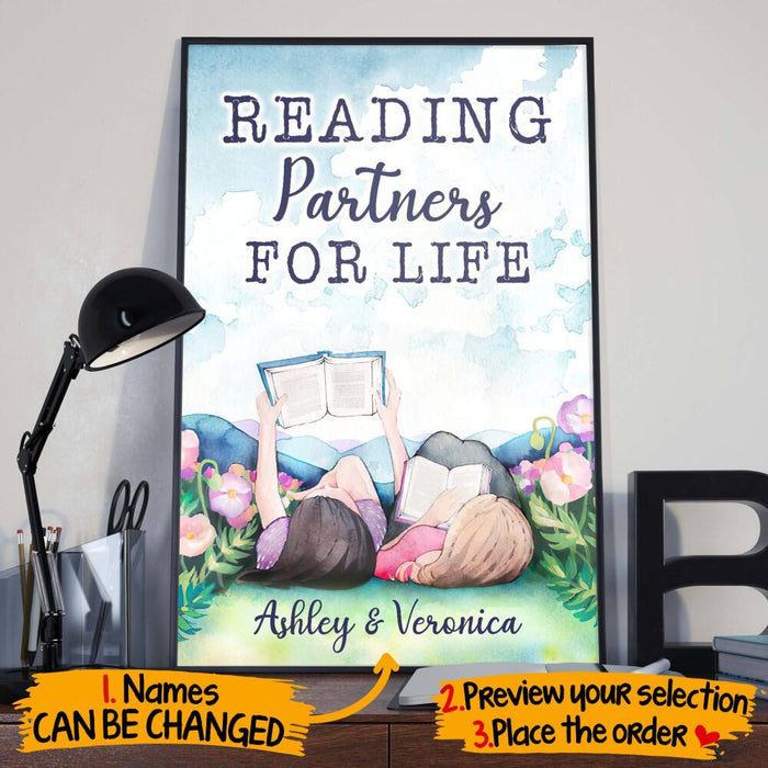 Custom Reading Partners For Life Vertical Poster