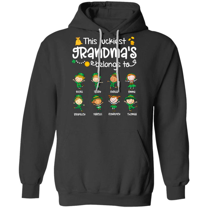 Custom This luckiest grandma's belongs to Front Printed T-Shirt