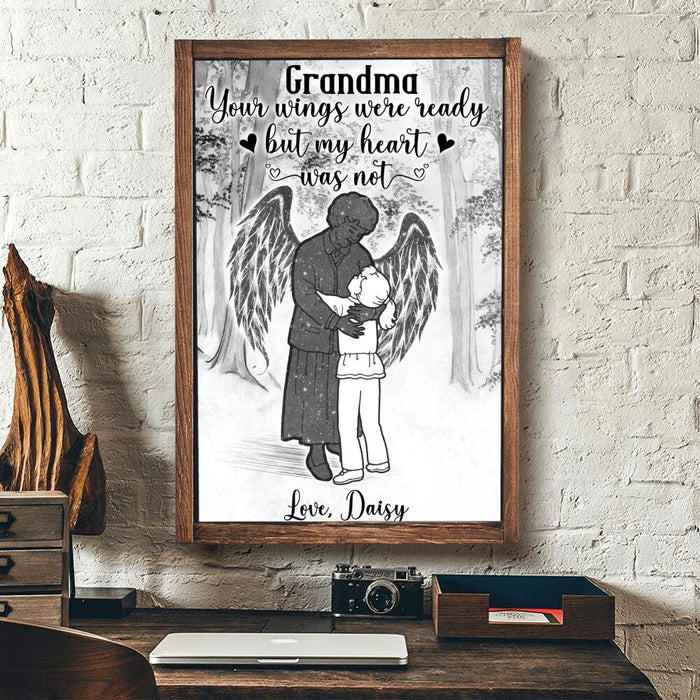 Custom Grandma Your wings were ready but my heart was not