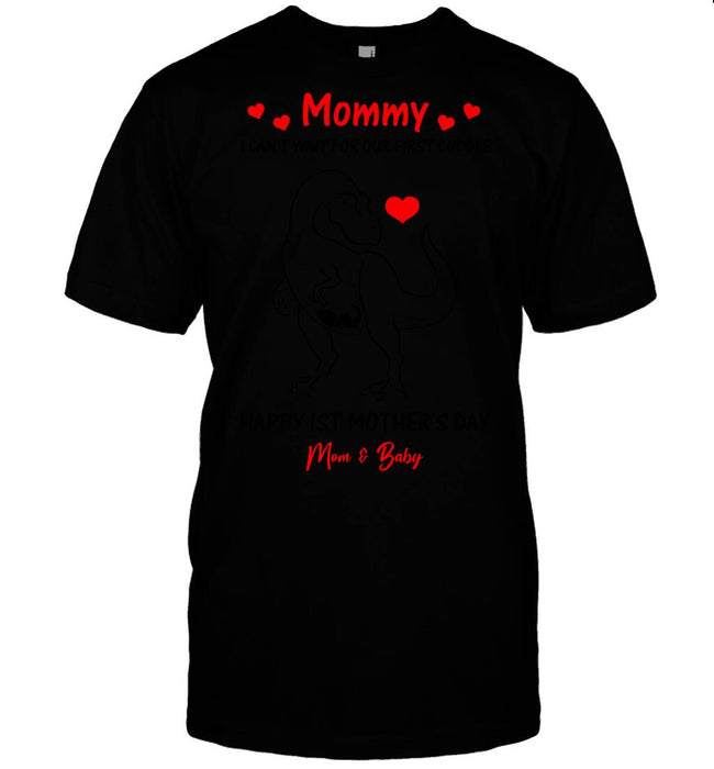 Custom Happy 1st Mother's Day Front Printed T-Shirt