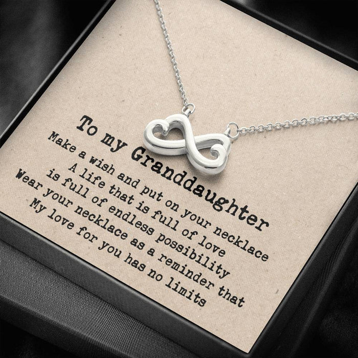 To my Granddaughter -  Infinity Heart  Infinity Heart pendant