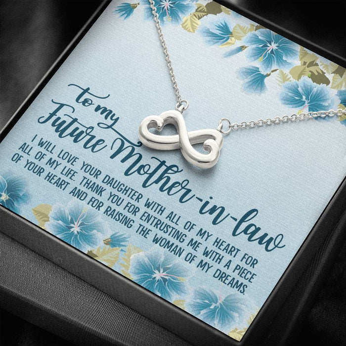 To my Future Mother-in-law Gift Infinity Heart Pendant