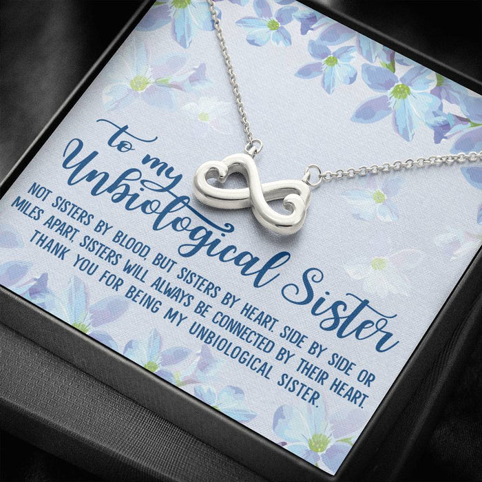 Unbiological Sister Best Friends Gift V3 Infinity Heart Pendant