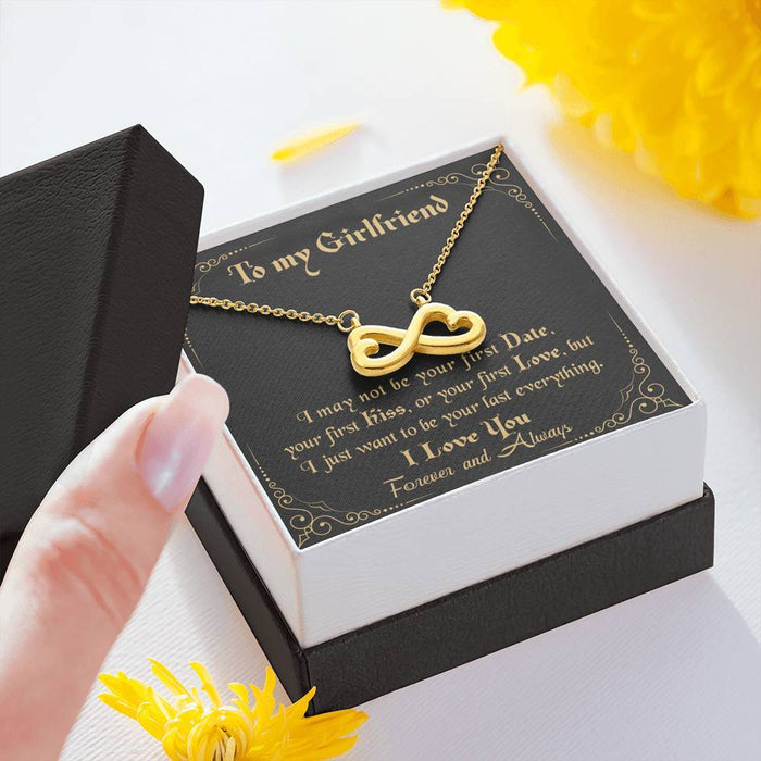 To My Girlfriend - How special you are to me 2 Infinity Heart Pendant