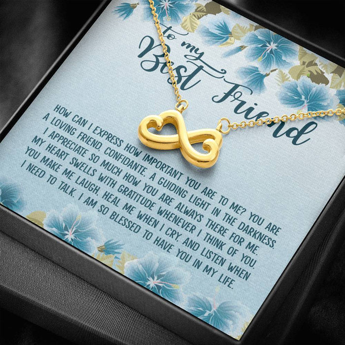 To my Best Friend Gifts Infinity Heart Pendant