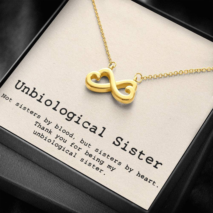Unbiological Sister - Soul Sister - Sister in Law - Step Sister Gift - Best Friend Gift Infinity Heart Pendant