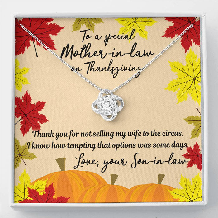 To a special mother-in-law on Thanksgiving
