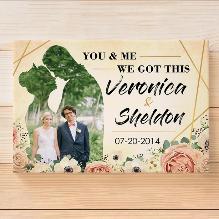 Custom You & Me We Got This Canvas Wall Art