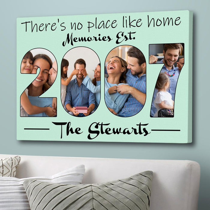 Custom Photo There's No Place Like Home Canvas Wall Art