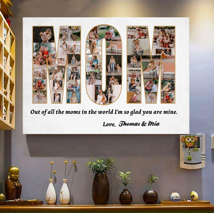 Custom Photo Mom I'm So Glad You're Mine Canvas Wall Art
