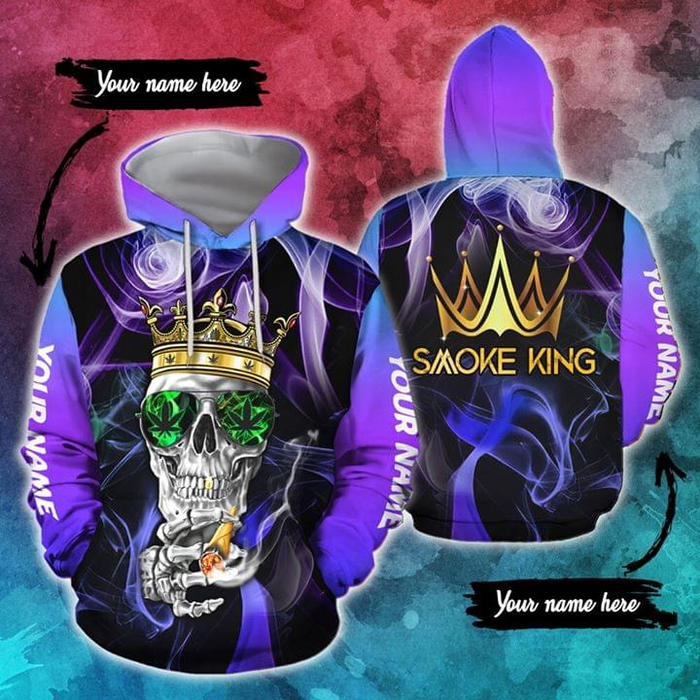 Customized Personalized Skull Skeleton Tattoo Halloween Gift Skull weed smoke king 3D All Over Printed Shirt, Sweatshirt, Hoodie, Bomber Jacket Size S - 5XL