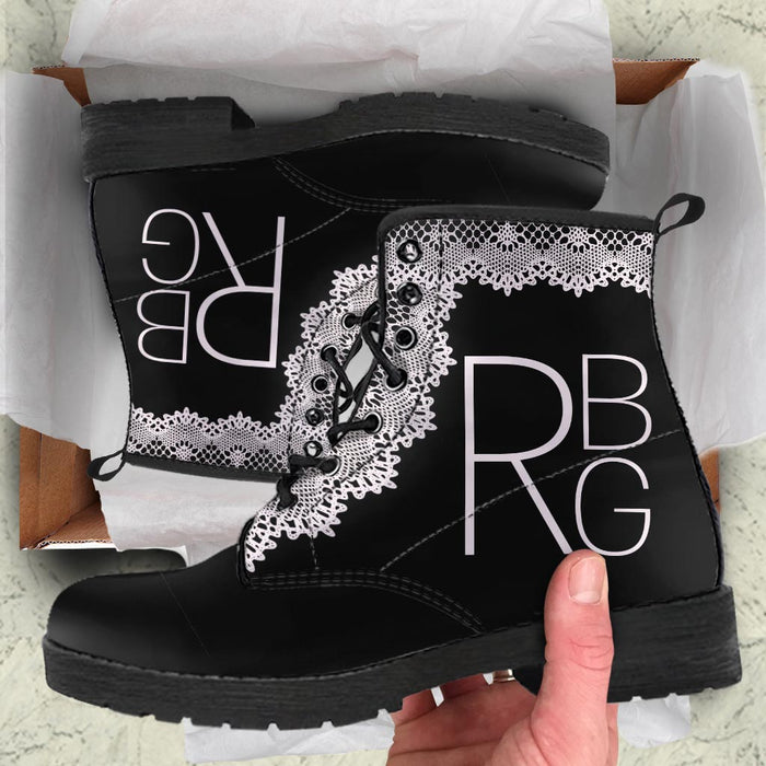 RBG pattern Leather Boots