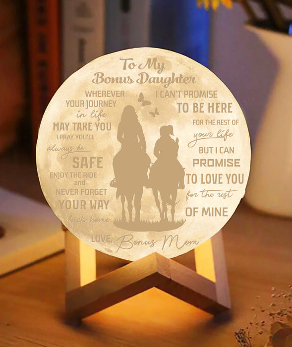 Promise To Love Bonus Daughter For The Rest Of Mine Moon lamp