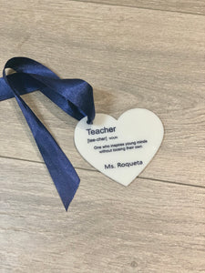 Teacher Heart Charm