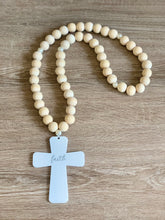 Load image into Gallery viewer, Acrylic Handcrafted Cross + Pearl Touch Garland