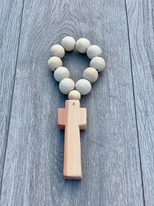 Handcrafted Wooden Cross + The Beaded Blessing