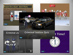 "KlickerZ Criminal Justice and General Education PowerPoint Quiz Templates ""DOWNLOAD ONLY"""