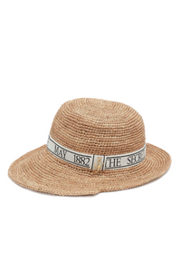 ASYMMETRIC RATTAN BUCKET HAT
