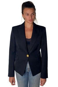 SINGLE BREASTED BLAZER IN BLACK