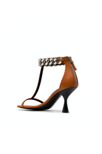 Load image into Gallery viewer, FALABELLA HIGH HEEL SANDAL IN ORANGE