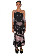 Load image into Gallery viewer, LIQUID MELT WAVE SLIP DRESS