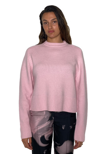 PLEASE CASHMERE SWEATER IN MALLOW