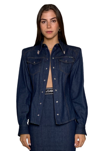 LONG SLEEVE SPORTS SHIRT IN DENIM