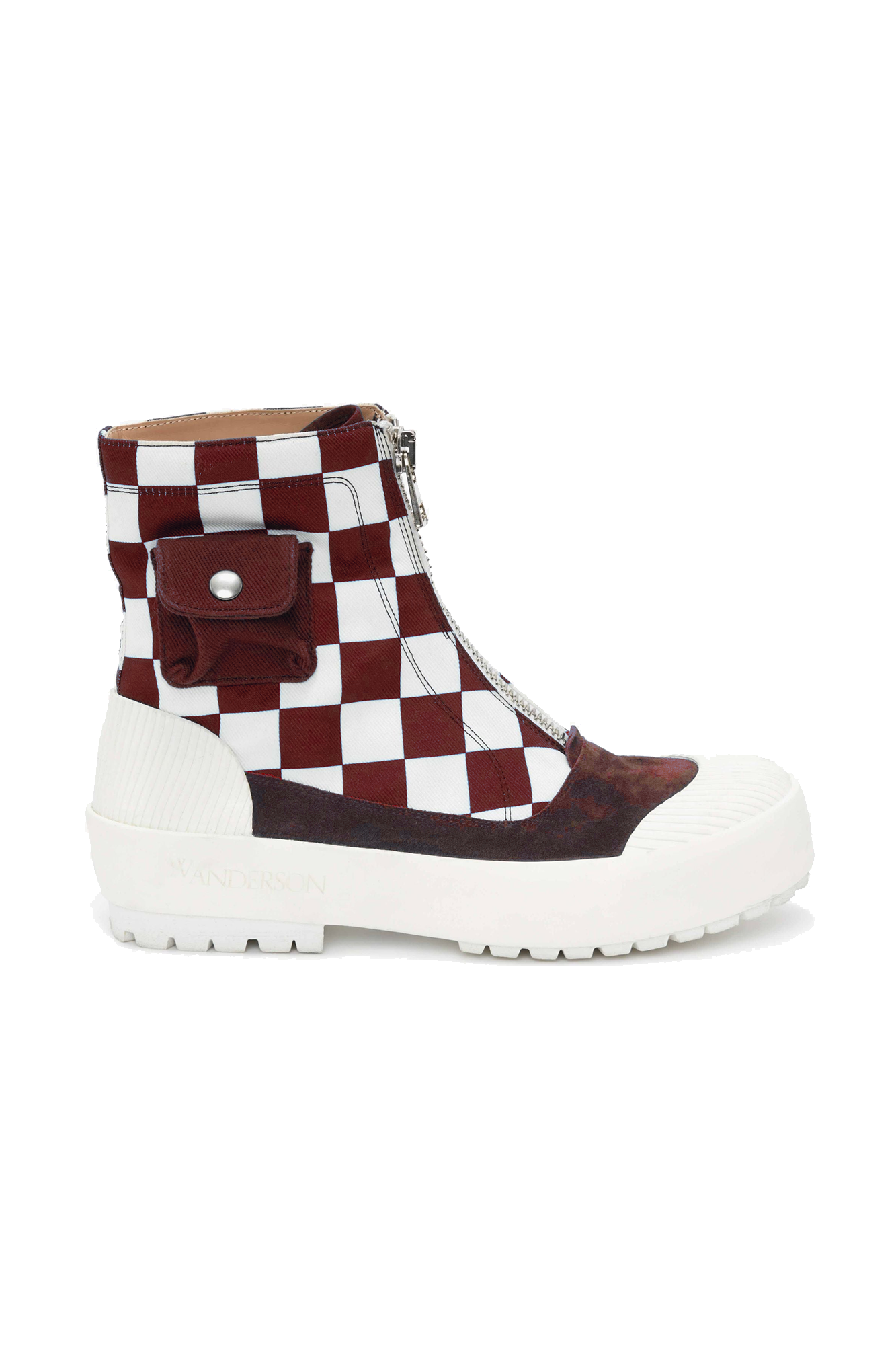 DUCK BOOT IN RED CHECK
