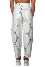 Load image into Gallery viewer, MARBLE HIGH-WAISTED JEANS