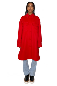 KERRY WOOL COAT IN RED