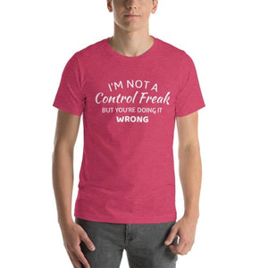 Grappige Tekst T-shirt Unisex | Control Freak Shirt