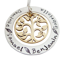 Load image into Gallery viewer, Personalized Family Tree Eternity Circle Necklace