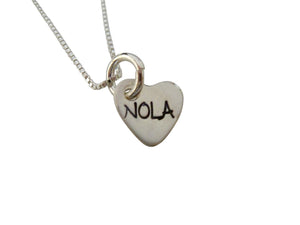 Stamped NOLA Charm Necklace