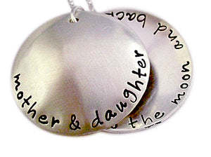 Hand Stamped Mother Daughter Locket