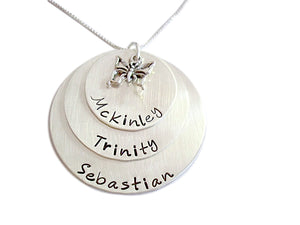 Personalized Stacked Necklace with Charm
