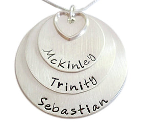 Personalized Stacked with Open Heart