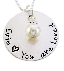 Personalized You are Loved Necklace