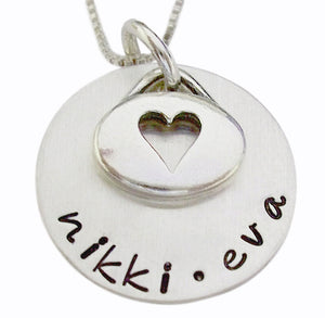 Personalized Name Necklace with Heart Charm