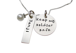 Personalized Keep My Soldier Safe Necklace