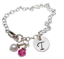 Load image into Gallery viewer, Personalized Initial Charm Bracelet