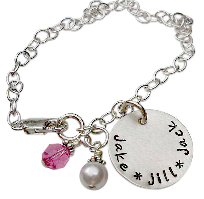 Personalized Keepsake Name Charm Bracelet