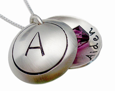 Hand Stamped Monogram Locket