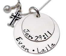 Load image into Gallery viewer, Personalized Stacked Scripture Verse Necklace