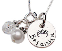 Load image into Gallery viewer, Hand Stamped Baptism Necklace