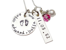 Load image into Gallery viewer, Personalized Twins Necklace with Birthstone