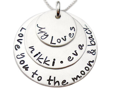 My Loves Stacked Personalized Necklace