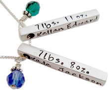 Load image into Gallery viewer, Personalized Birth Bar Necklace