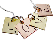 Load image into Gallery viewer, Personalized Scrabble Tile Necklace