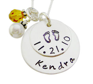 Personalized Stacked Birth Necklace